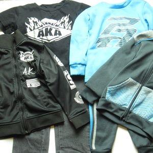 Black Akademiks and Blue Jogging Suit Sets Size 3T
